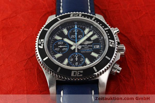 Used luxury watch Breitling Superocean Chronograph chronograph steel automatic Kal. B13 ETA 7750 Ref. A13341  | 142895 18