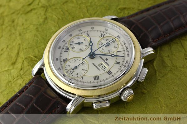 Used luxury watch Maurice Lacroix Masterpiece chronograph steel / gold automatic Kal. ML 67 ETA 7750 Ref. AC32365  | 142900 01