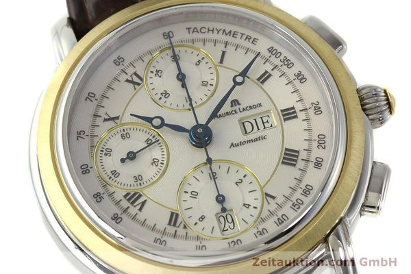 Used luxury watch Maurice Lacroix Masterpiece chronograph steel / gold automatic Kal. ML 67 ETA 7750 Ref. AC32365  | 142900 02