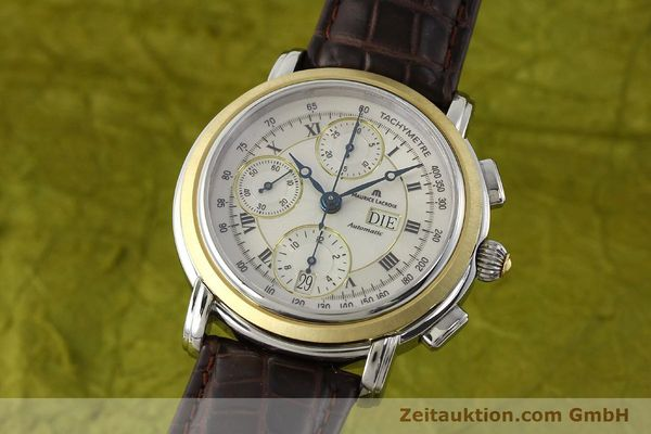 Used luxury watch Maurice Lacroix Masterpiece chronograph steel / gold automatic Kal. ML 67 ETA 7750 Ref. AC32365  | 142900 04