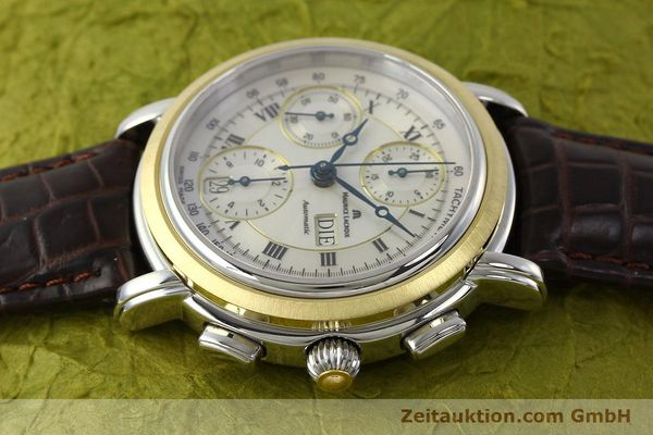 Used luxury watch Maurice Lacroix Masterpiece chronograph steel / gold automatic Kal. ML 67 ETA 7750 Ref. AC32365  | 142900 05