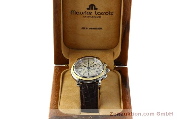 Used luxury watch Maurice Lacroix Masterpiece chronograph steel / gold automatic Kal. ML 67 ETA 7750 Ref. AC32365  | 142900 07