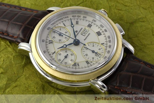 Used luxury watch Maurice Lacroix Masterpiece chronograph steel / gold automatic Kal. ML 67 ETA 7750 Ref. AC32365  | 142900 15