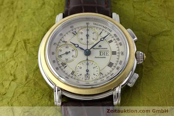 Used luxury watch Maurice Lacroix Masterpiece chronograph steel / gold automatic Kal. ML 67 ETA 7750 Ref. AC32365  | 142900 16