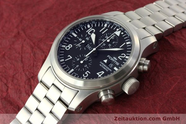 Used luxury watch Fortis B42 chronograph steel automatic Kal. ETA 7750 Ref. 656.10.141  | 142910 01