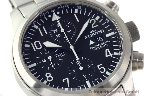 Used luxury watch Fortis B42 chronograph steel automatic Kal. ETA 7750 Ref. 656.10.141  | 142910 02