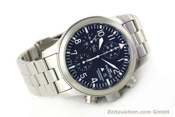 Used luxury watch Fortis B42 chronograph steel automatic Kal. ETA 7750 Ref. 656.10.141  | 142910 03