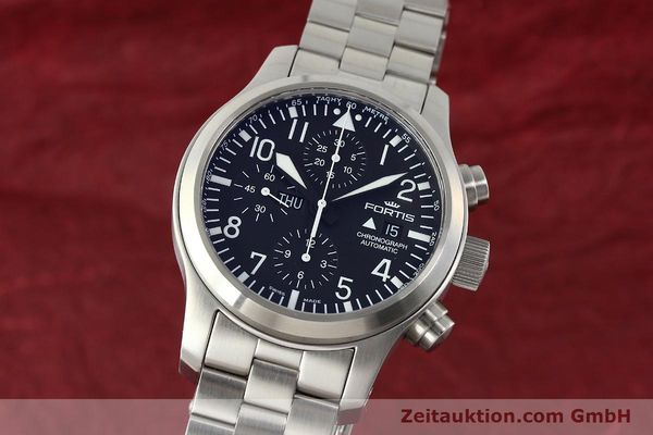 Used luxury watch Fortis B42 chronograph steel automatic Kal. ETA 7750 Ref. 656.10.141  | 142910 04