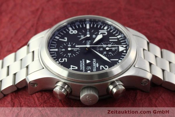 Used luxury watch Fortis B42 chronograph steel automatic Kal. ETA 7750 Ref. 656.10.141  | 142910 05