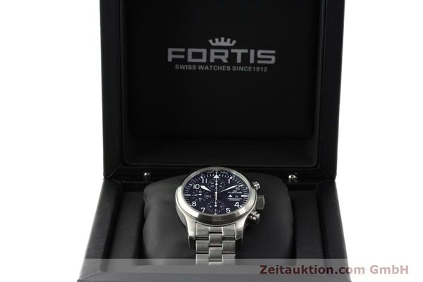 Used luxury watch Fortis B42 chronograph steel automatic Kal. ETA 7750 Ref. 656.10.141  | 142910 07