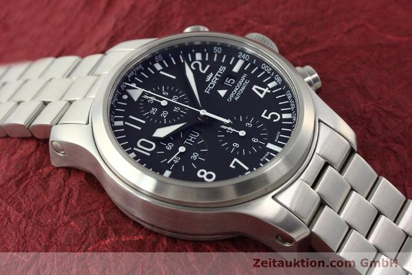 Used luxury watch Fortis B42 chronograph steel automatic Kal. ETA 7750 Ref. 656.10.141  | 142910 16
