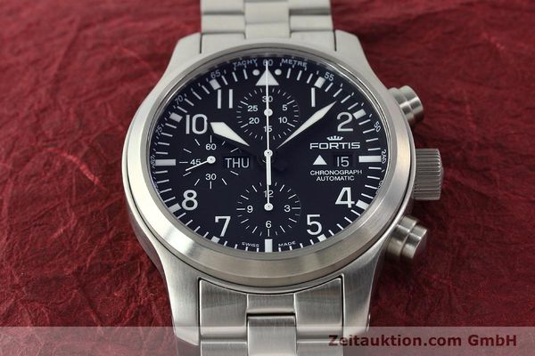 Used luxury watch Fortis B42 chronograph steel automatic Kal. ETA 7750 Ref. 656.10.141  | 142910 17