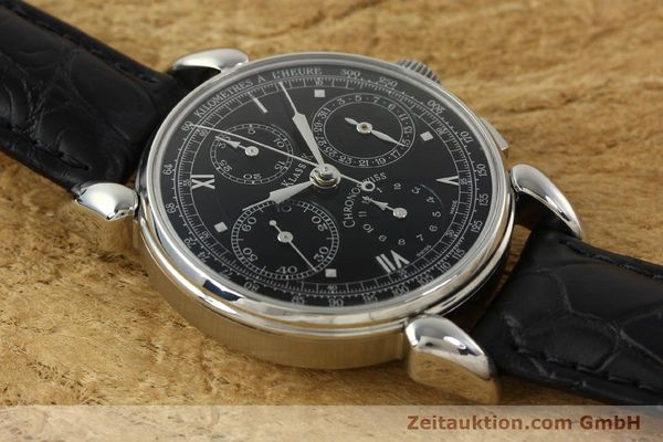 Used luxury watch Chronoswiss Klassik chronograph steel automatic Kal. 1391/ ETA 7750 Ref. CH7443  | 142914 14