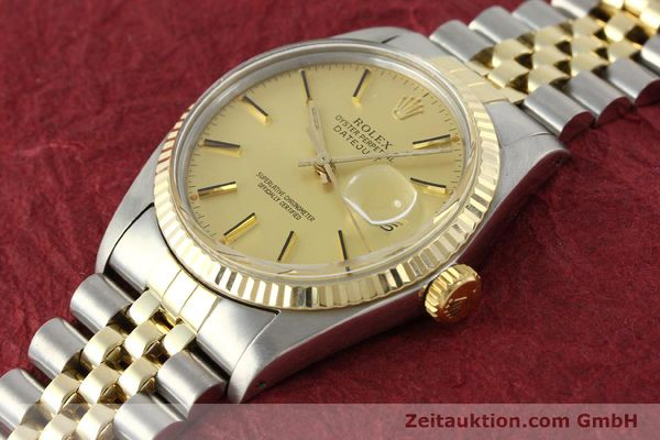 Used luxury watch Rolex Datejust steel / gold automatic Kal. 3035 Ref. 16013  | 142917 01