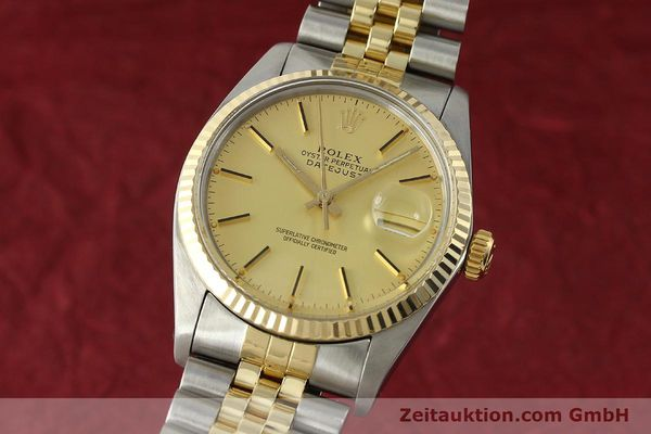 Used luxury watch Rolex Datejust steel / gold automatic Kal. 3035 Ref. 16013  | 142917 04