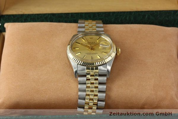 Used luxury watch Rolex Datejust steel / gold automatic Kal. 3035 Ref. 16013  | 142917 07