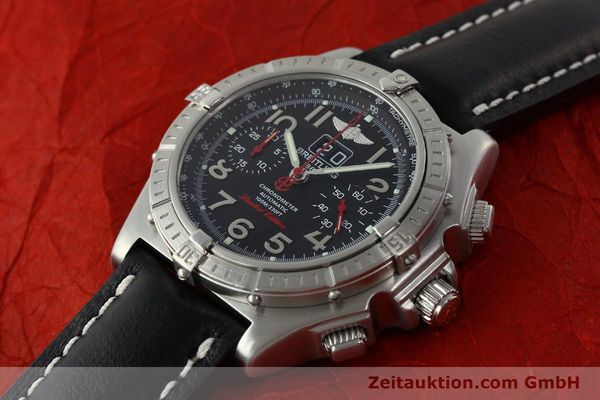 Used luxury watch Breitling Crosswind chronograph steel automatic Kal. B44 ETA 2892A2 Ref. A44355 LIMITED EDITION | 142919 01