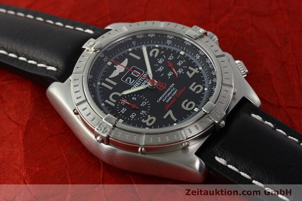Used luxury watch Breitling Crosswind chronograph steel automatic Kal. B44 ETA 2892A2 Ref. A44355 LIMITED EDITION | 142919 13