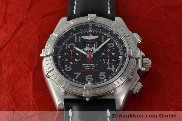 Used luxury watch Breitling Crosswind chronograph steel automatic Kal. B44 ETA 2892A2 Ref. A44355 LIMITED EDITION | 142919 14