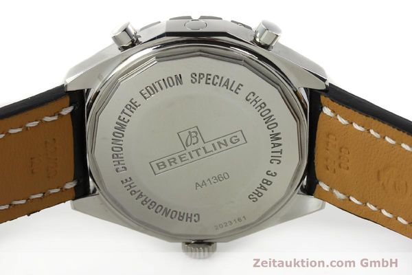 Used luxury watch Breitling Chrono-Matic chronograph steel automatic Kal. B41 ETA 2892A2 Ref. A41360  | 142922 09