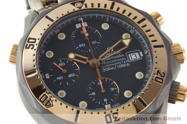 Used luxury watch Omega Seamaster chronograph titanium / gold automatic Kal. 1154 ETA 7750  | 142928 02