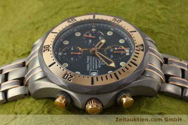 Used luxury watch Omega Seamaster chronograph titanium / gold automatic Kal. 1154 ETA 7750  | 142928 05