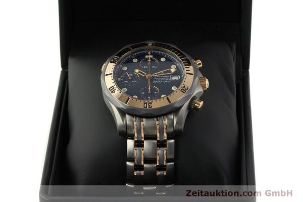Used luxury watch Omega Seamaster chronograph titanium / gold automatic Kal. 1154 ETA 7750  | 142928 07