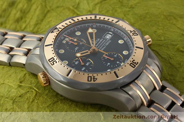 Used luxury watch Omega Seamaster chronograph titanium / gold automatic Kal. 1154 ETA 7750  | 142928 15