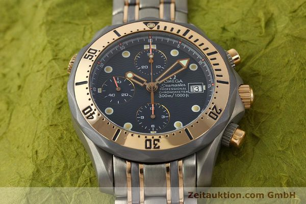 Used luxury watch Omega Seamaster chronograph titanium / gold automatic Kal. 1154 ETA 7750  | 142928 16
