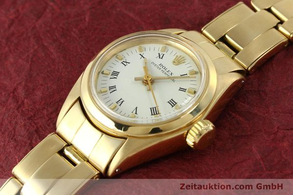 Used luxury watch Rolex Oyster Perpetual 18 ct gold automatic Kal. 2030 Ref. 6718  | 142929 01