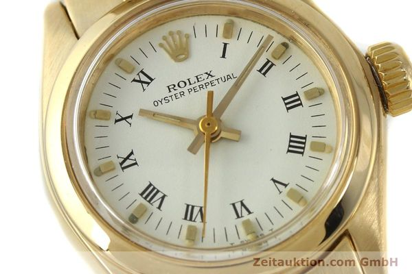 Used luxury watch Rolex Oyster Perpetual 18 ct gold automatic Kal. 2030 Ref. 6718  | 142929 02