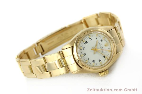 Used luxury watch Rolex Oyster Perpetual 18 ct gold automatic Kal. 2030 Ref. 6718  | 142929 03