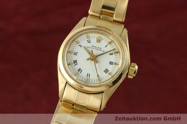 Used luxury watch Rolex Oyster Perpetual 18 ct gold automatic Kal. 2030 Ref. 6718  | 142929 04