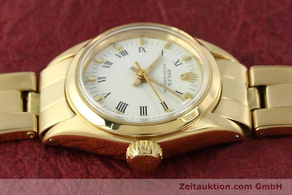 Used luxury watch Rolex Oyster Perpetual 18 ct gold automatic Kal. 2030 Ref. 6718  | 142929 05