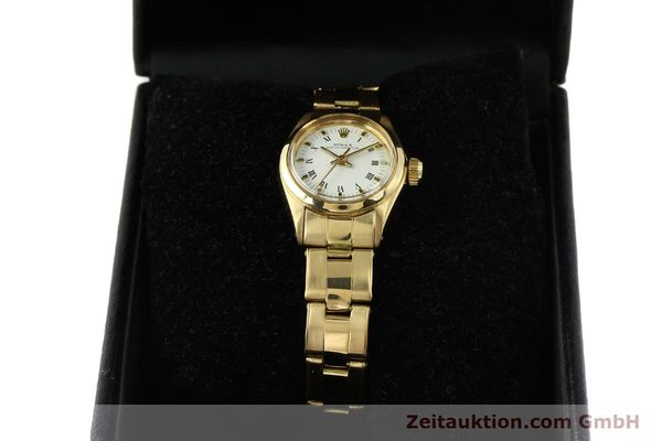 Used luxury watch Rolex Oyster Perpetual 18 ct gold automatic Kal. 2030 Ref. 6718  | 142929 07