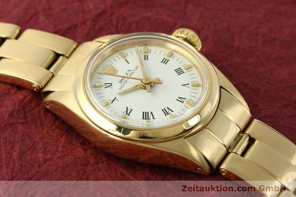 Used luxury watch Rolex Oyster Perpetual 18 ct gold automatic Kal. 2030 Ref. 6718  | 142929 15