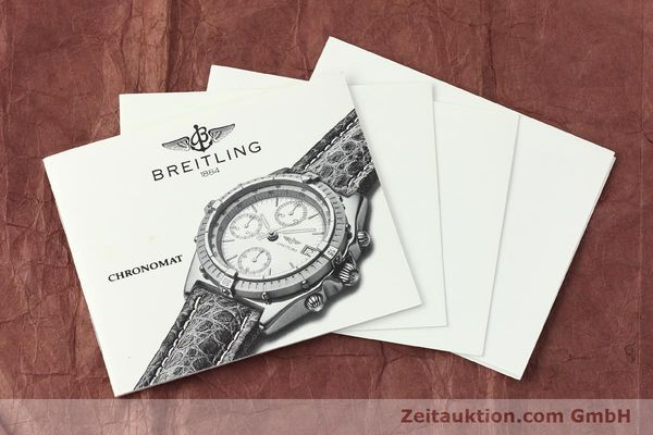 Used luxury watch Breitling Chronomat chronograph steel / gold automatic Kal. B13 ETA 7750 Ref. B13048  | 142936 12
