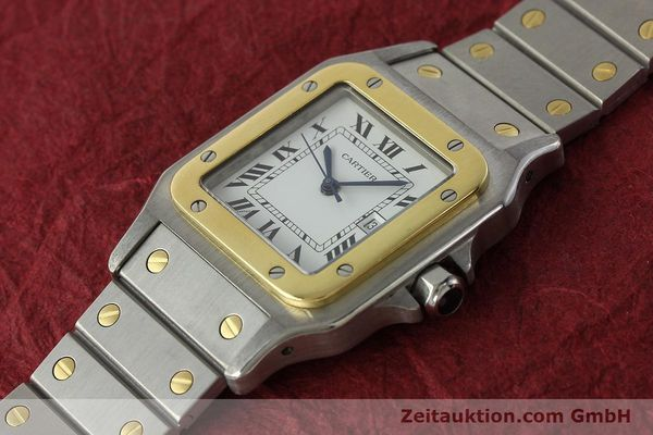 Used luxury watch Cartier Santos steel / gold automatic Kal. ETA 2671  | 142939 01