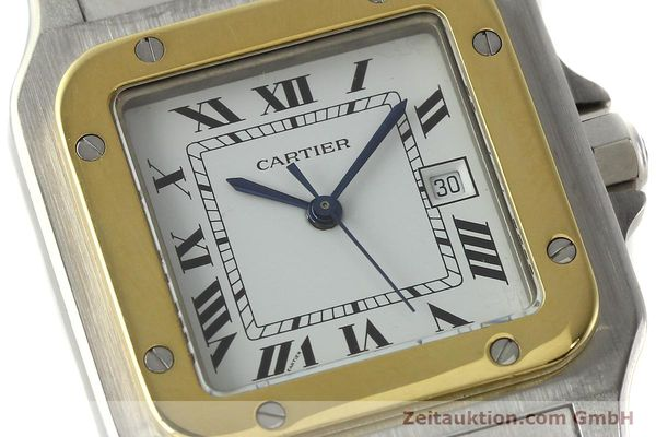 Used luxury watch Cartier Santos steel / gold automatic Kal. ETA 2671  | 142939 02