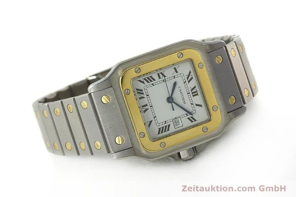 Used luxury watch Cartier Santos steel / gold automatic Kal. ETA 2671  | 142939 03
