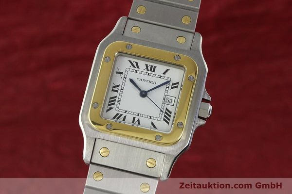Used luxury watch Cartier Santos steel / gold automatic Kal. ETA 2671  | 142939 04