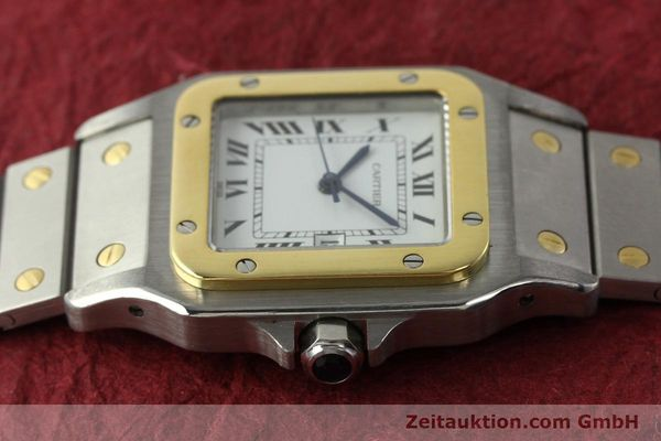 Used luxury watch Cartier Santos steel / gold automatic Kal. ETA 2671  | 142939 05