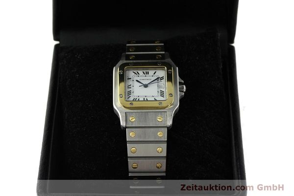 Used luxury watch Cartier Santos steel / gold automatic Kal. ETA 2671  | 142939 07