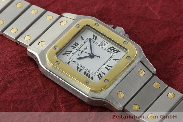 Used luxury watch Cartier Santos steel / gold automatic Kal. ETA 2671  | 142939 13