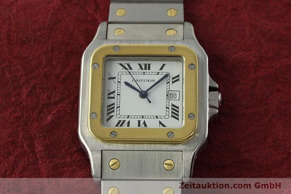 Used luxury watch Cartier Santos steel / gold automatic Kal. ETA 2671  | 142939 14