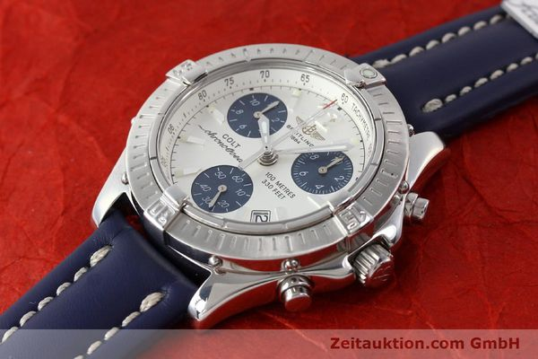 Used luxury watch Breitling Colt chronograph steel quartz Kal. B53 ETA 251.262 Ref. A53350  | 142952 01