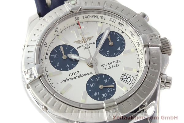 Used luxury watch Breitling Colt chronograph steel quartz Kal. B53 ETA 251.262 Ref. A53350  | 142952 02