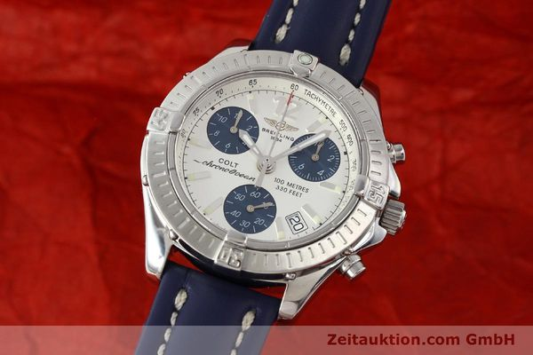 Used luxury watch Breitling Colt chronograph steel quartz Kal. B53 ETA 251.262 Ref. A53350  | 142952 04