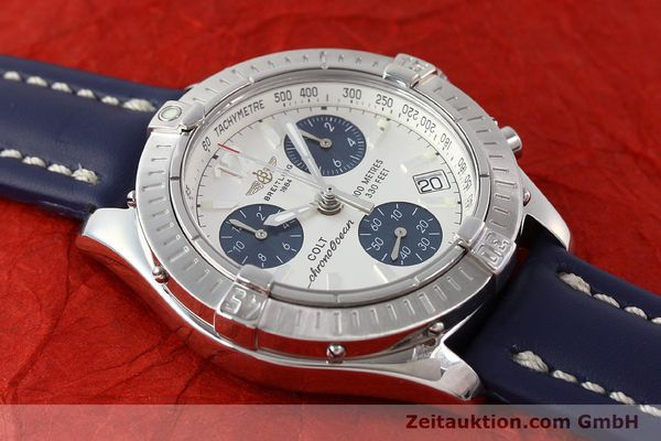 Used luxury watch Breitling Colt chronograph steel quartz Kal. B53 ETA 251.262 Ref. A53350  | 142952 13