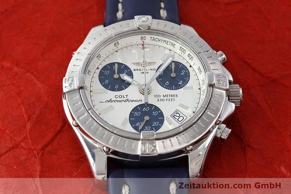 Used luxury watch Breitling Colt chronograph steel quartz Kal. B53 ETA 251.262 Ref. A53350  | 142952 14